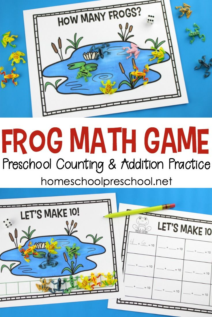 Free Printable Frog Math Game for Counting and Addition