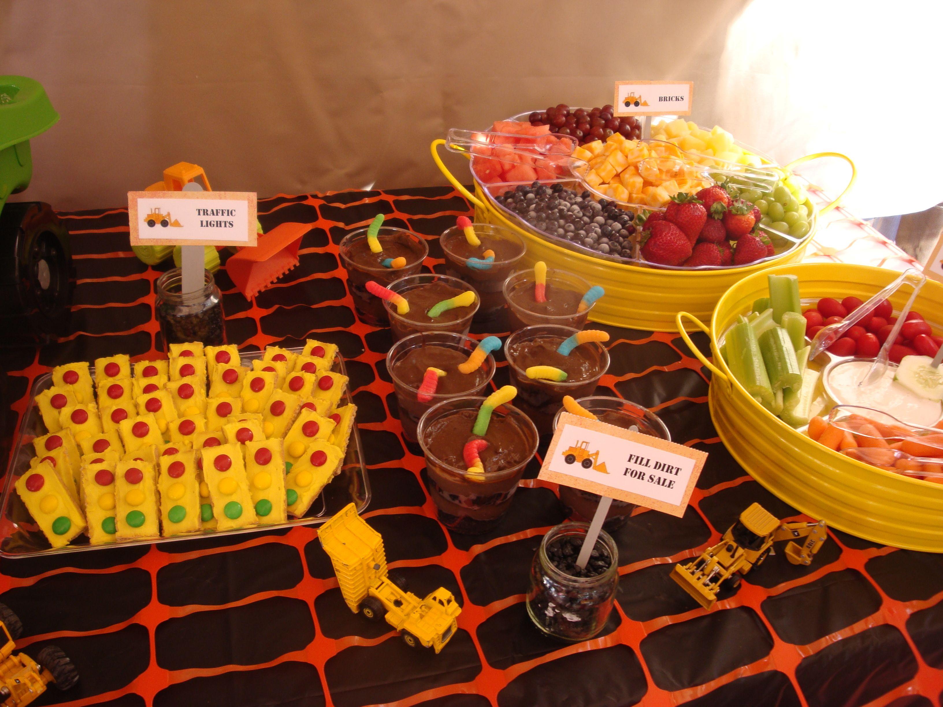 Food ideas construction theme party partayy ideas for Construction cuisine