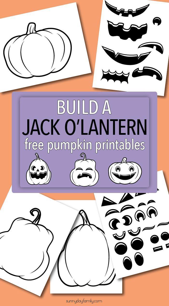 Build a Jack O Lantern with Fun Free Pumpkin Printables | Pinterest ...