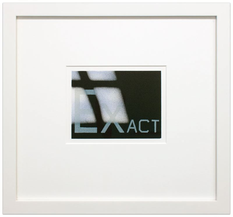 Ed Ruscha Exact From The That Is Right Portfolio 1989 Lithograph Image Size 5 X 6 7 8 Inches 12 7 X 17 5 Cm Paper Pop Art Movement Art Movement Lithograph