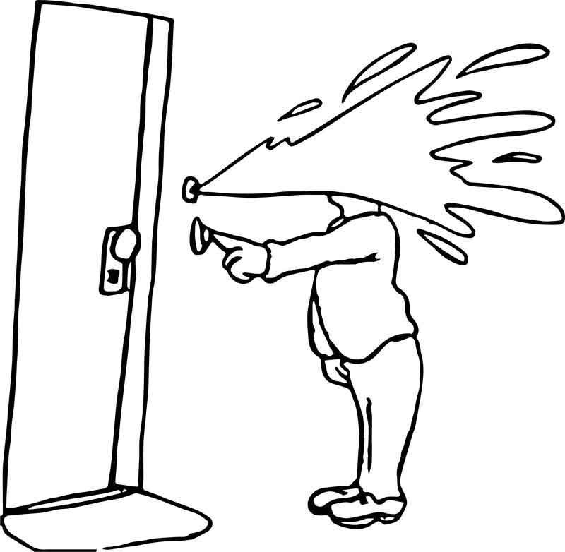April Fool Door Joke Coloring Page