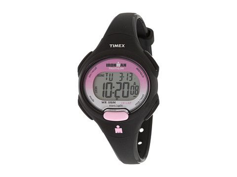 Timex Sport Ironman Black and Pink Mid Size 10 Lap Watch