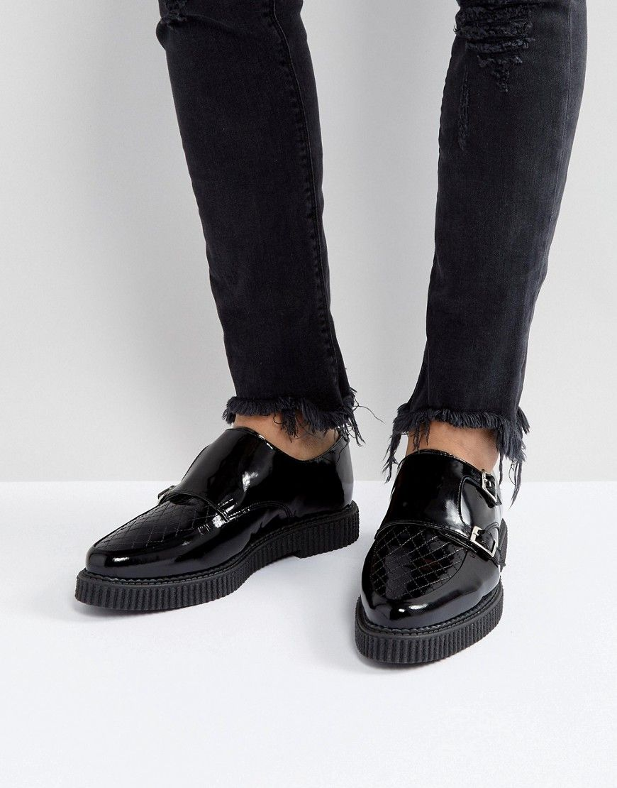 ASOS Monk Creeper Shoes In Black