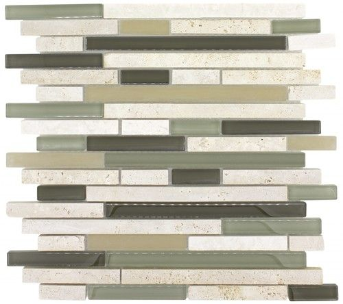 Glass Travertine Olive Blend Tile Brick Mesh Mounted On A 12x12 Sheet For Backsplash Bathroom And Featured Wall Samples Ava Glass Tile Travertine Backsplash