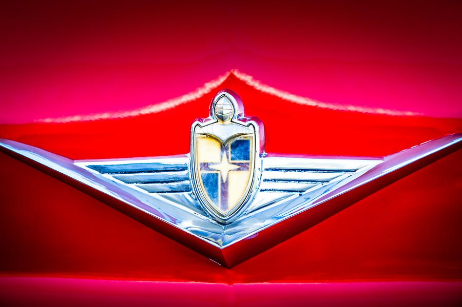 1954 Lincoln Capri Emblem 1170c Photograph Ruby Red