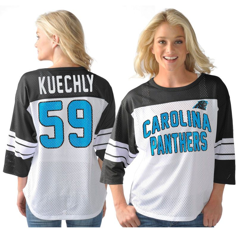 Luke Kuechly Carolina Panthers G-III Sports by Carl Banks Women s Play  Action Name   Number T-Shirt - White 706d418ff