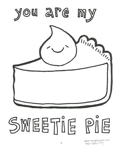 Coloring Sheet That Would Be So Cute To Embroider Valentine Coloring Pie Drawing Kawaii Valentine