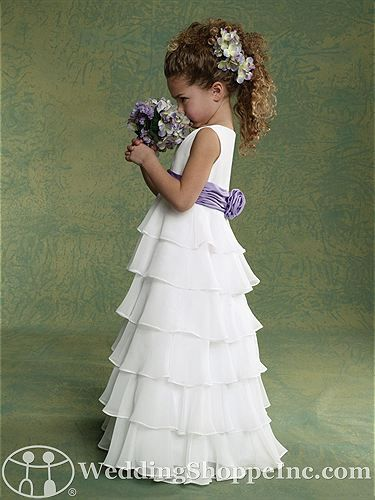 I like this - A-line Princess Scoop Floor Length White Chiffon Tiered Flower  Girl Dress With Sash. Do you think I should buy it?