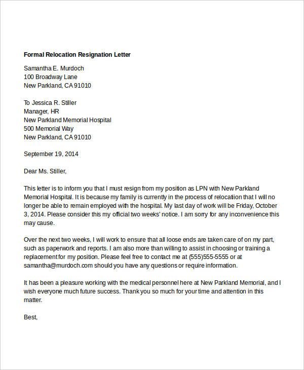 Free Resignation Letter Download. Image Result For Resignation