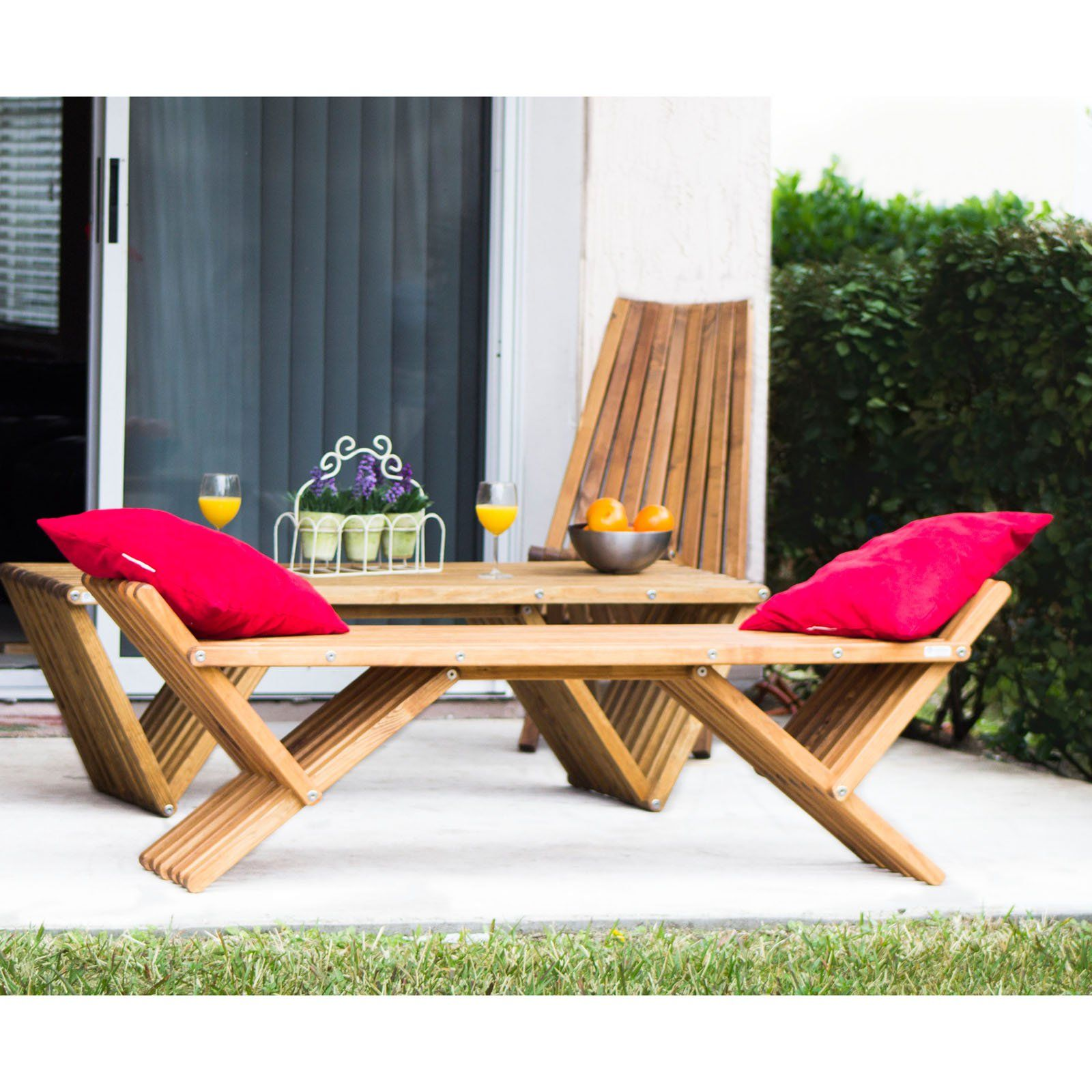 Awe Inspiring Outdoor Glodea Xquare French X90 Wooden Backless Garden Dailytribune Chair Design For Home Dailytribuneorg
