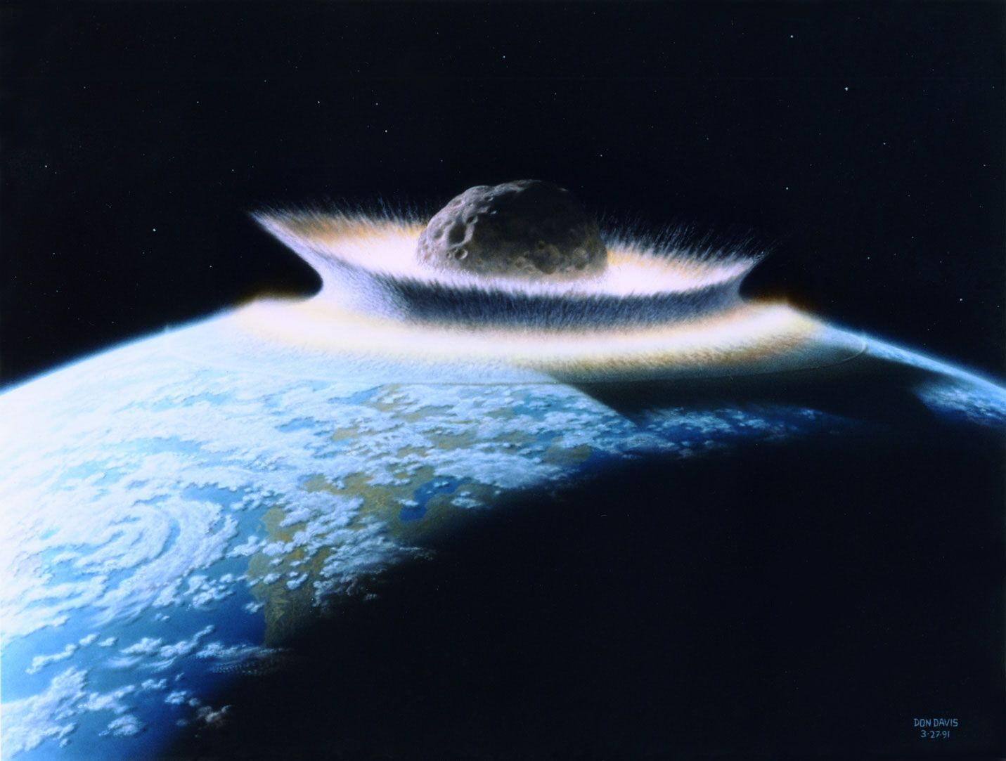 Don Davis' iconic painting of a large impact on our earth ...