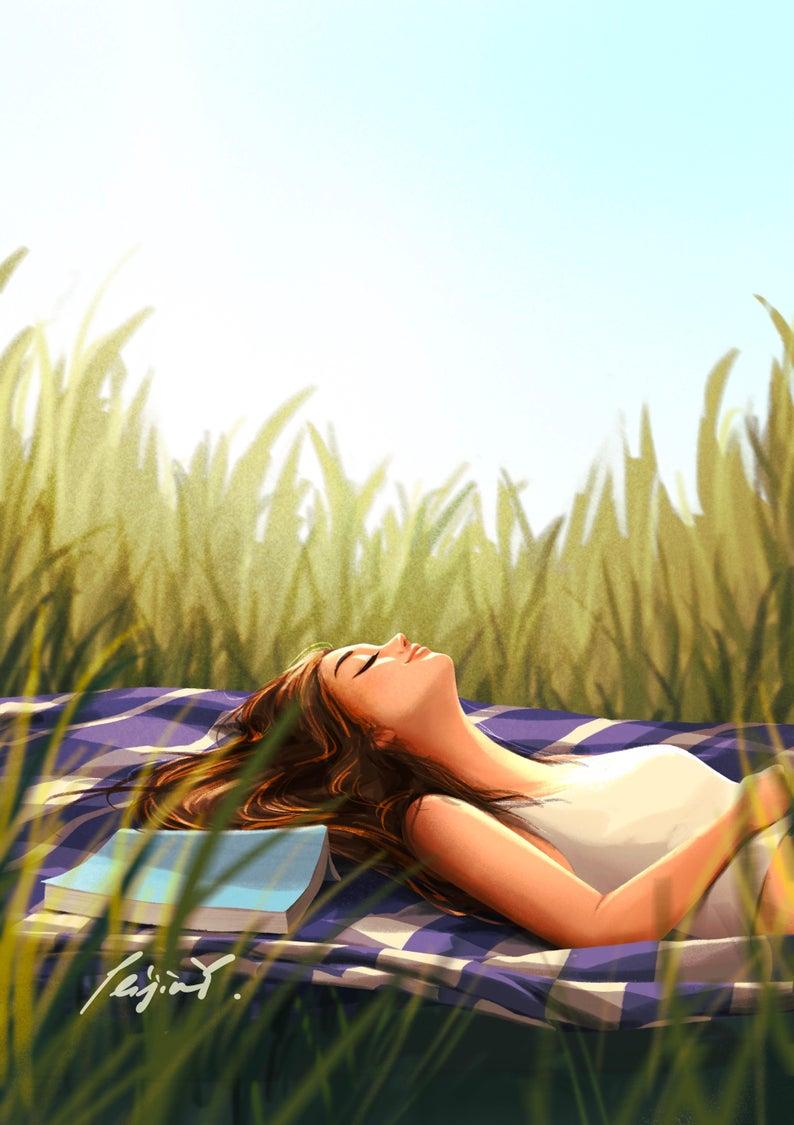 Under The Sun Art Print Summer In The Nature Nature Lover Summer Vibe Peijin In 2020 Sun Art Art Prints Art