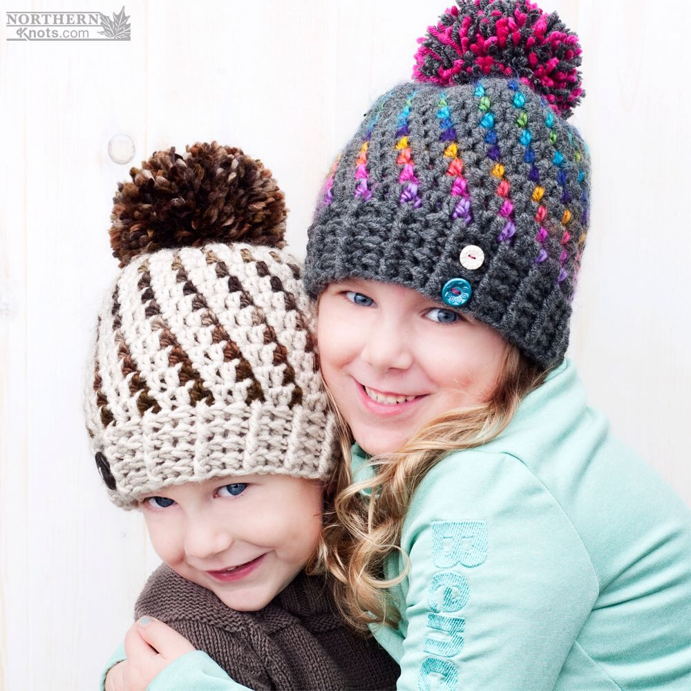 Crochet hat pattern northern lights beanie hat by northern crochet hat pattern northern lights beanie hat by northern knots pom pom bankloansurffo Images