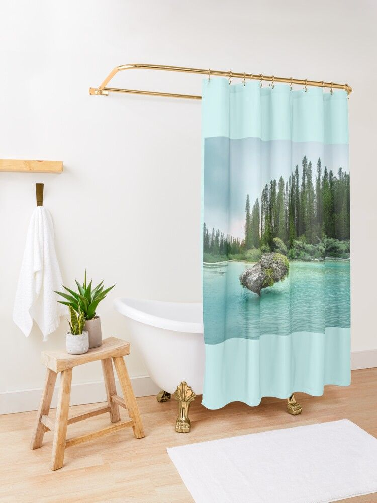 In The Wilderness Natural Lagoon At Isle Of Pines New Caledonia Shower Curtain Designer Shower Curtains Caledonia New Caledonia