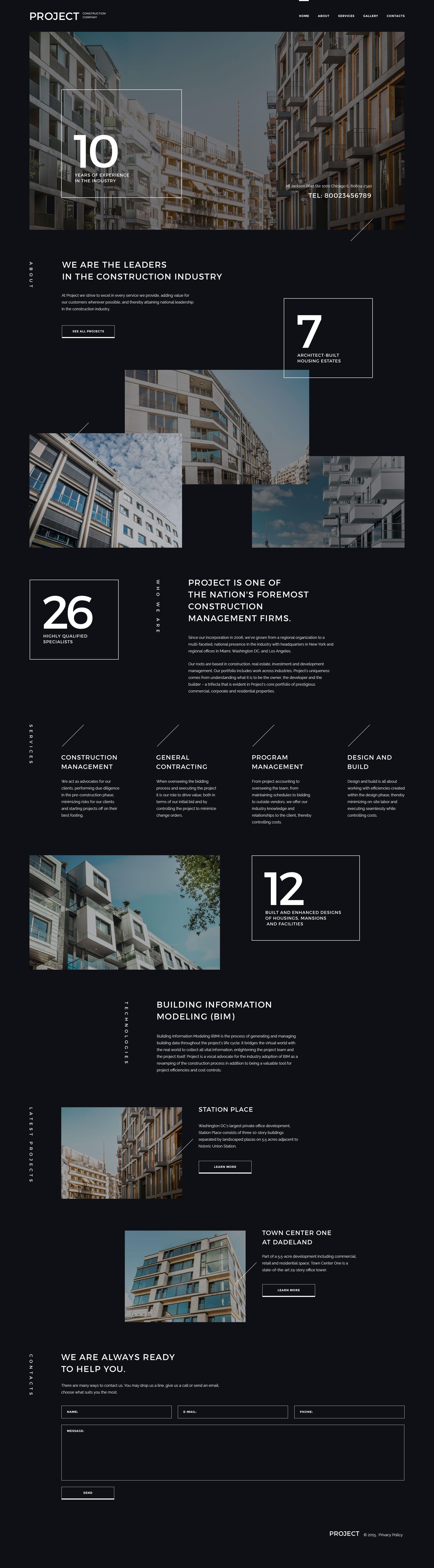 Project Construction Company Website Template | kana imc | Pinterest ...