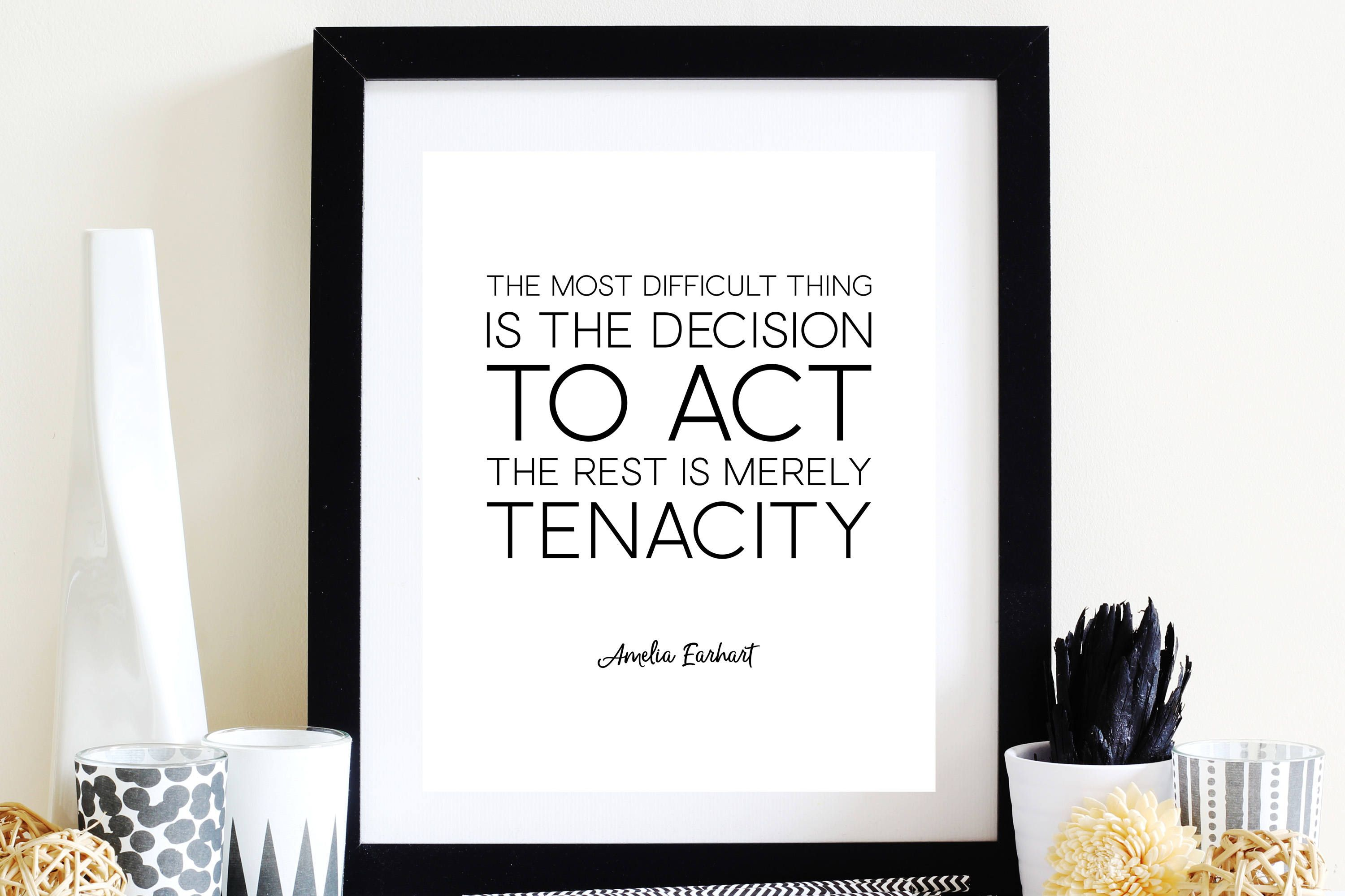 Amelia Earhart Decision To Act Motivational Quote