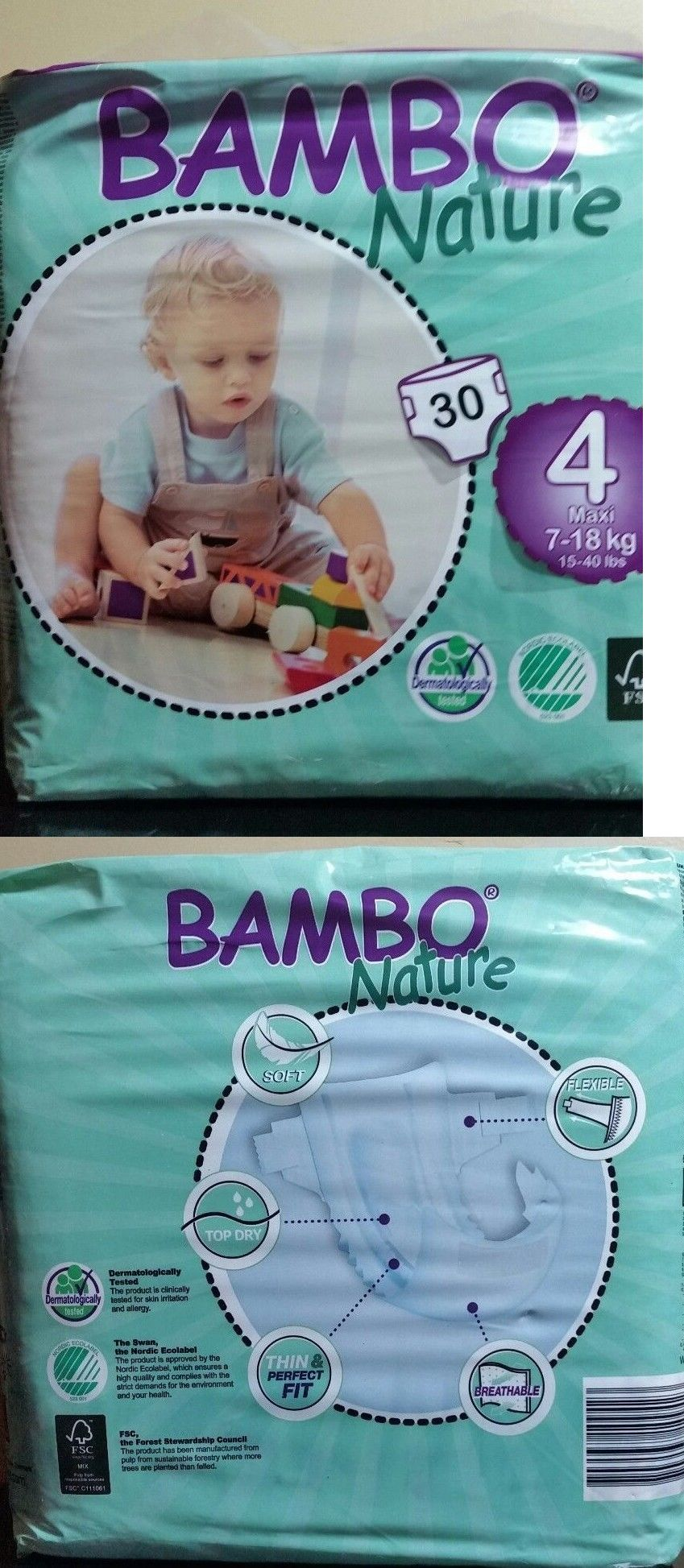 Disposable diapers bambo nature maxi baby diapers size