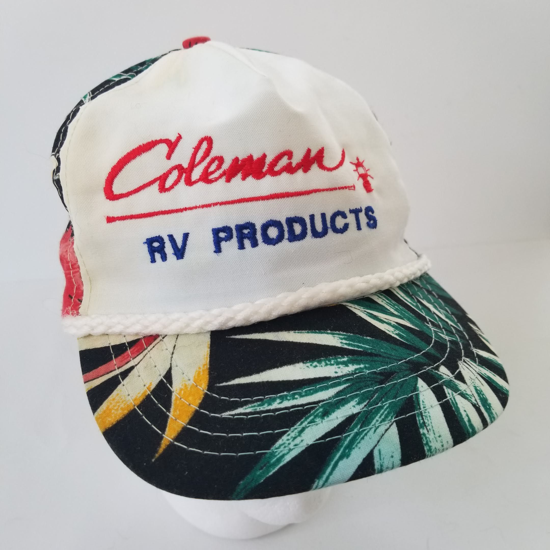 3b86992bd28 Vintage Coleman RV Trucker Hat Snapback Cap Hawaiian Floral Outdoors  Camping by TraSheeWomen on Etsy  coleman  colemanrvproducts  hat  trucker   snapback ...