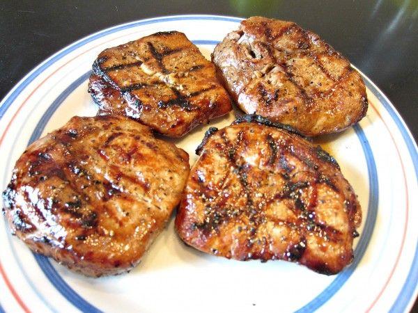 Marinated Grilled Pork Chops #grilledporkchops