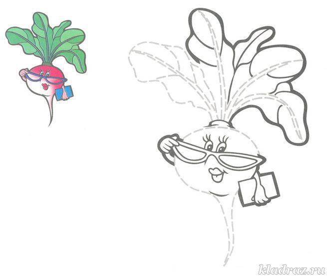 Раскраска с заданием для детей 3-5 лет | Verduras e legumes