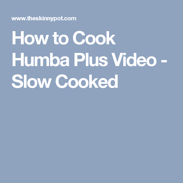 How to Cook Humba Plus Video - Slow Cooked