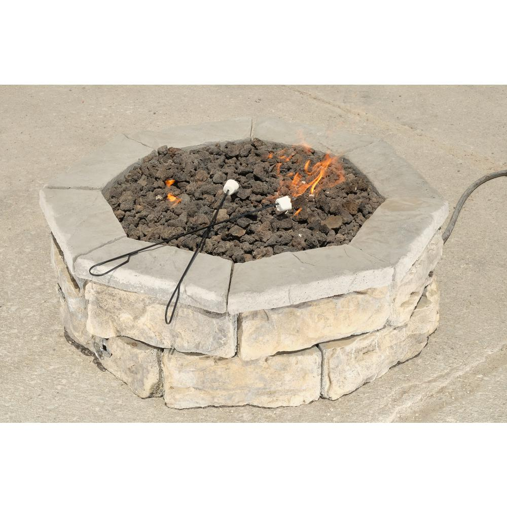 Anchor 52 In Northwoods Fresco Round Fire Pit Kit With Metal Liner 600355nor At The Home Depot 299 In Ground Fire Pit Fire Pit Liner Round Fire Pit