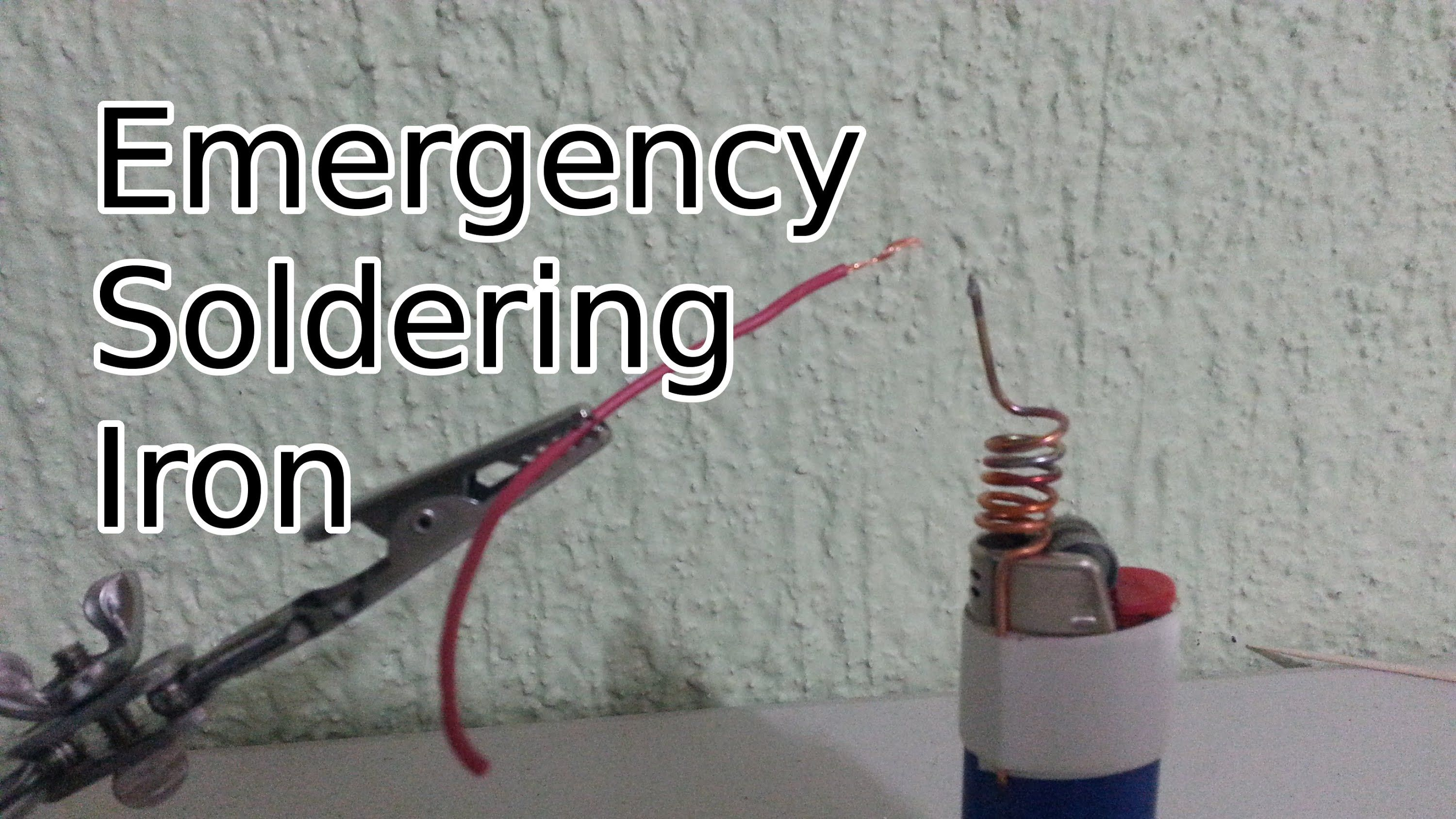 Learn to make an emergency soldering iron with nothing more than a ...