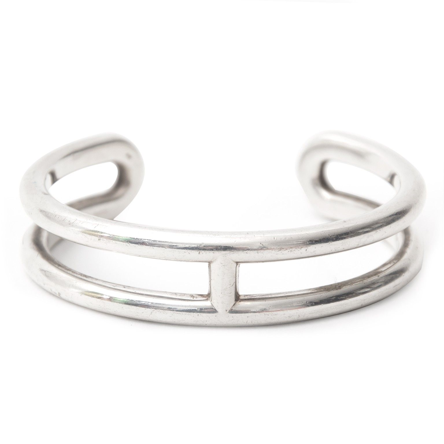 Authentic Hermes Silver Osmose Cuff Bracelets Jewelry Ping Places