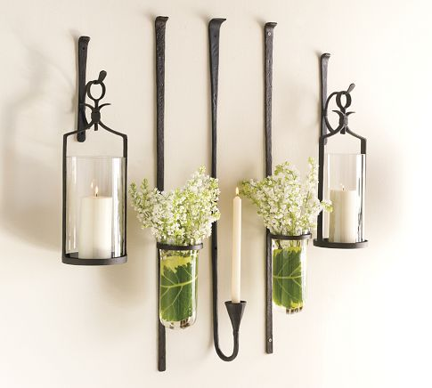 Artisanal Wall Mount Candleholder Wall Mounted Candle Holders