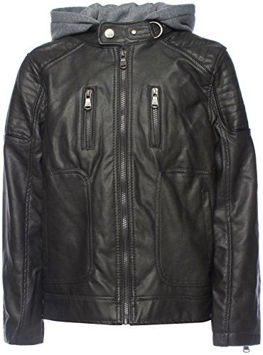 9fb70d8ffcf4 Urban Republic Big Boys  Faux Leather Moto Jacket With Zips 5 6 ...