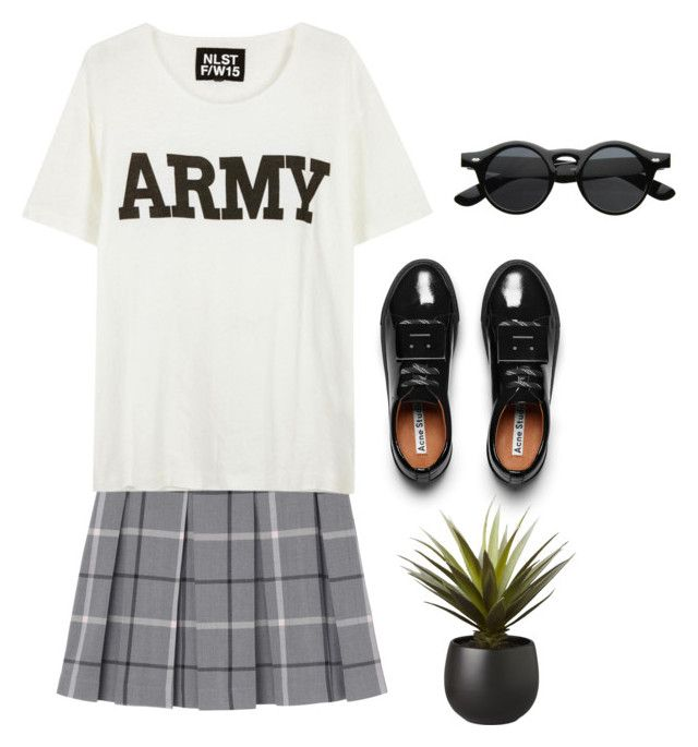 """""""Back to School"""" by explorer-14484443162 on Polyvore featuring косметика, Monki, NLST, Acne Studios и CB2"""