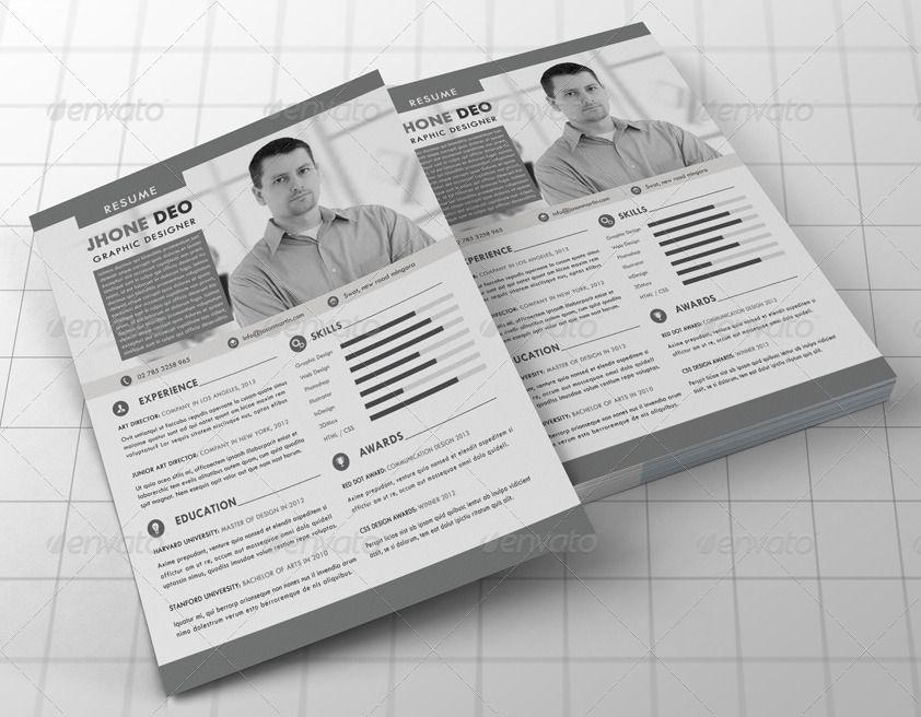Resume Bundle (2 in 1) Resume, Graphic design art, How