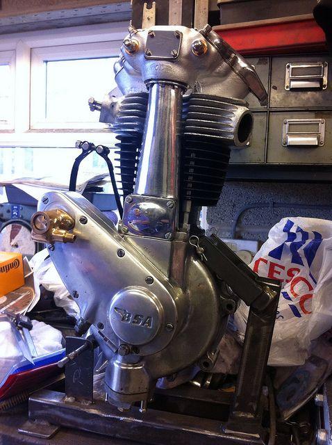 Bsa Engine Bsa Restoration B33 Engine Rebuilt Bsa Motorcycle Engineering Motorcycle Engine
