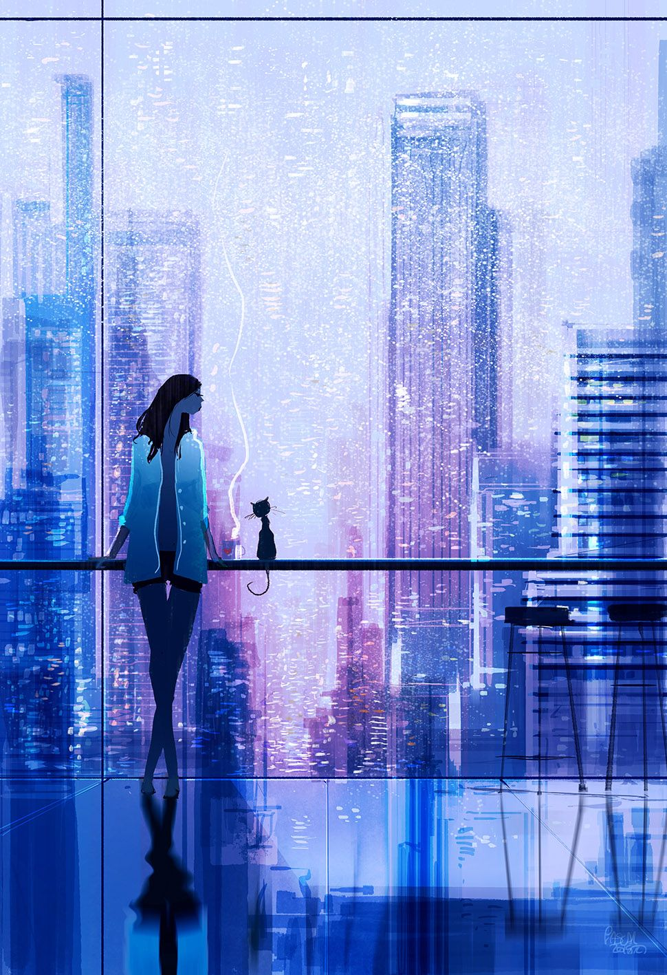 Rainy view pascalcampionart kind of a follow up to a piece called