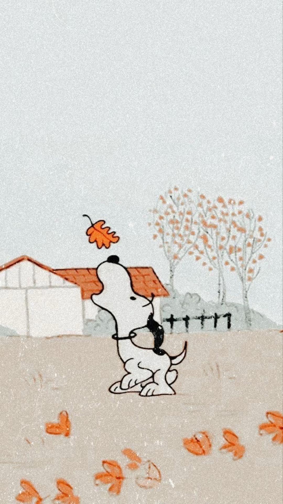 Peanuts wallpaper (fall themed) 🍁