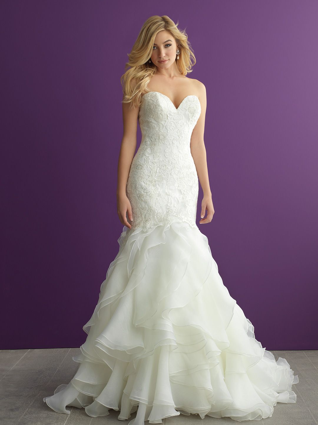 Allure Romance Wedding Dress Style 2964. This incredible fishtail ...