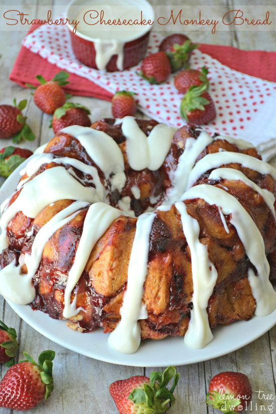 Strawberry Cheesecake Monkey Bread