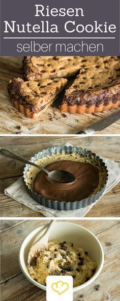 xxl nutella cookie rezept kochen party pinterest kuchen backen und nutella. Black Bedroom Furniture Sets. Home Design Ideas