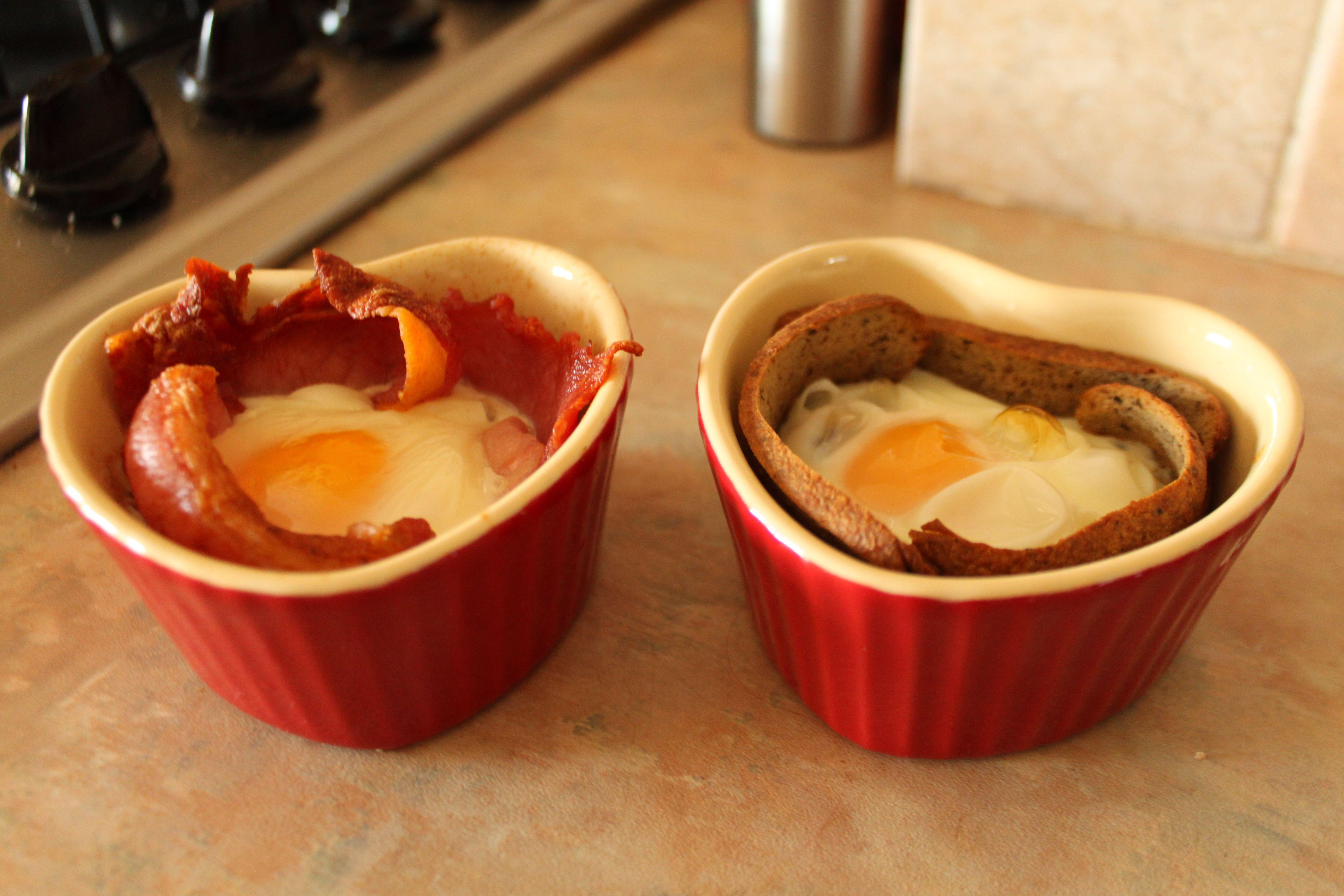 Egg & bacon ramekins