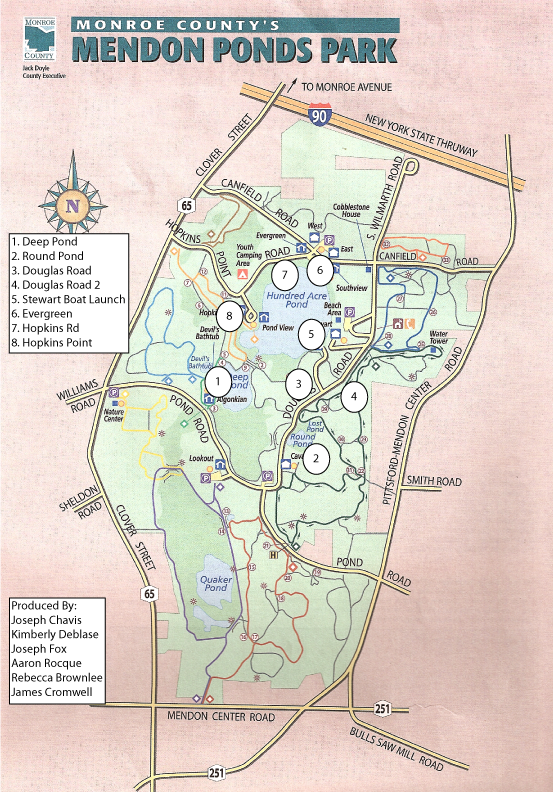 Mendon Ponds Park Map Kids Adventure Park Map