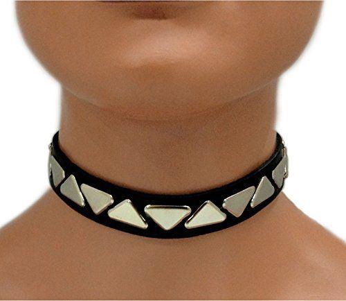 Gothic Halsband Dreieck Nieten | 331