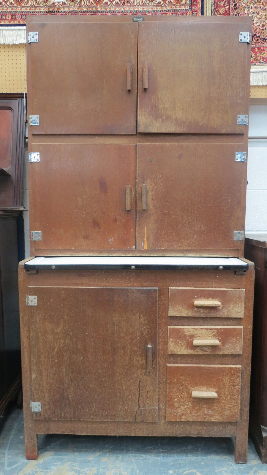 1930s Easiwork Model 420 Stand Alone Utility Kitchen Cabinet | eBay ...