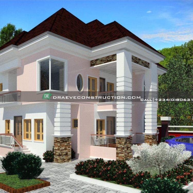 3 Bedroom Duplex With 1 Bedroom Flat House Design In Nigeria By 2348063154820 Duplex House Design Flat House Design Duplex Design