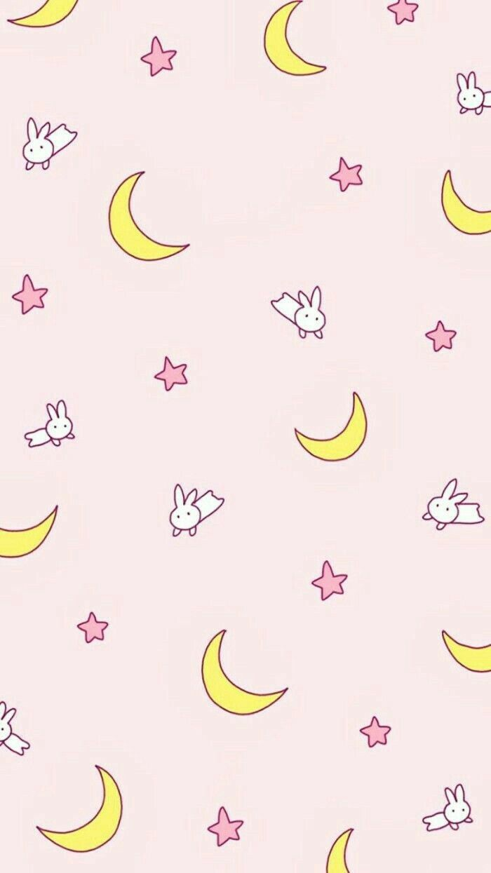 Wallpaper Kawaii Sailor Moon Wallpaper Bunny Wallpaper Cute Pastel Wallpaper