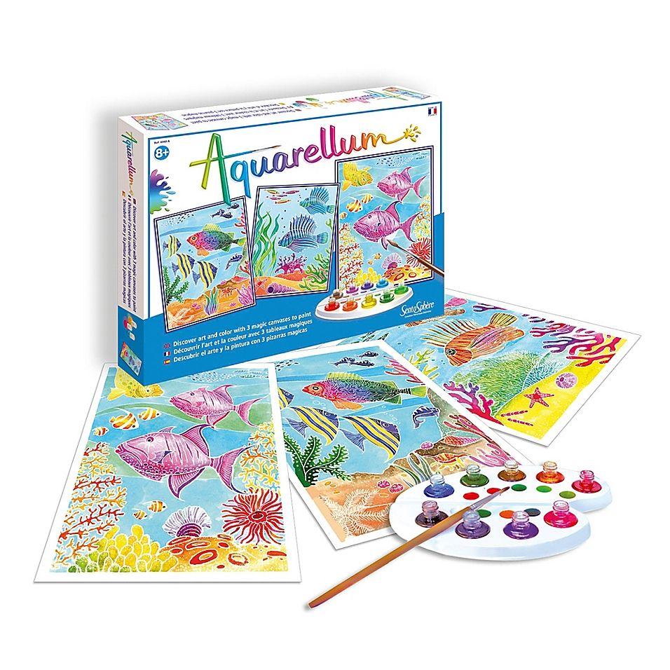 Sentosphere Usa Aquarellum Large Coral Reefs Coloring Kit Multi