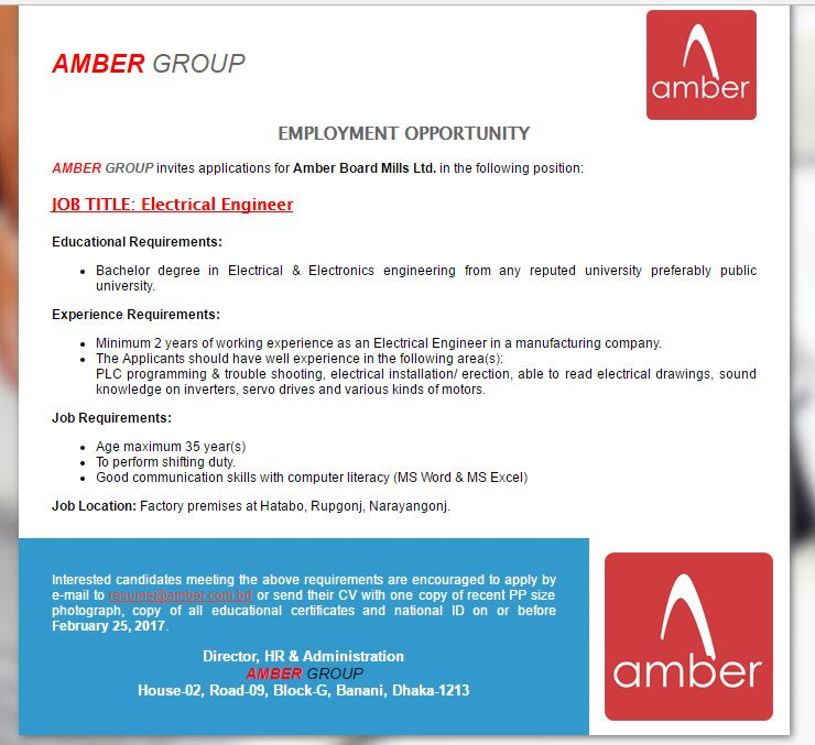 Career  Amber Group  Electrical Engineer Amber Group Has Been