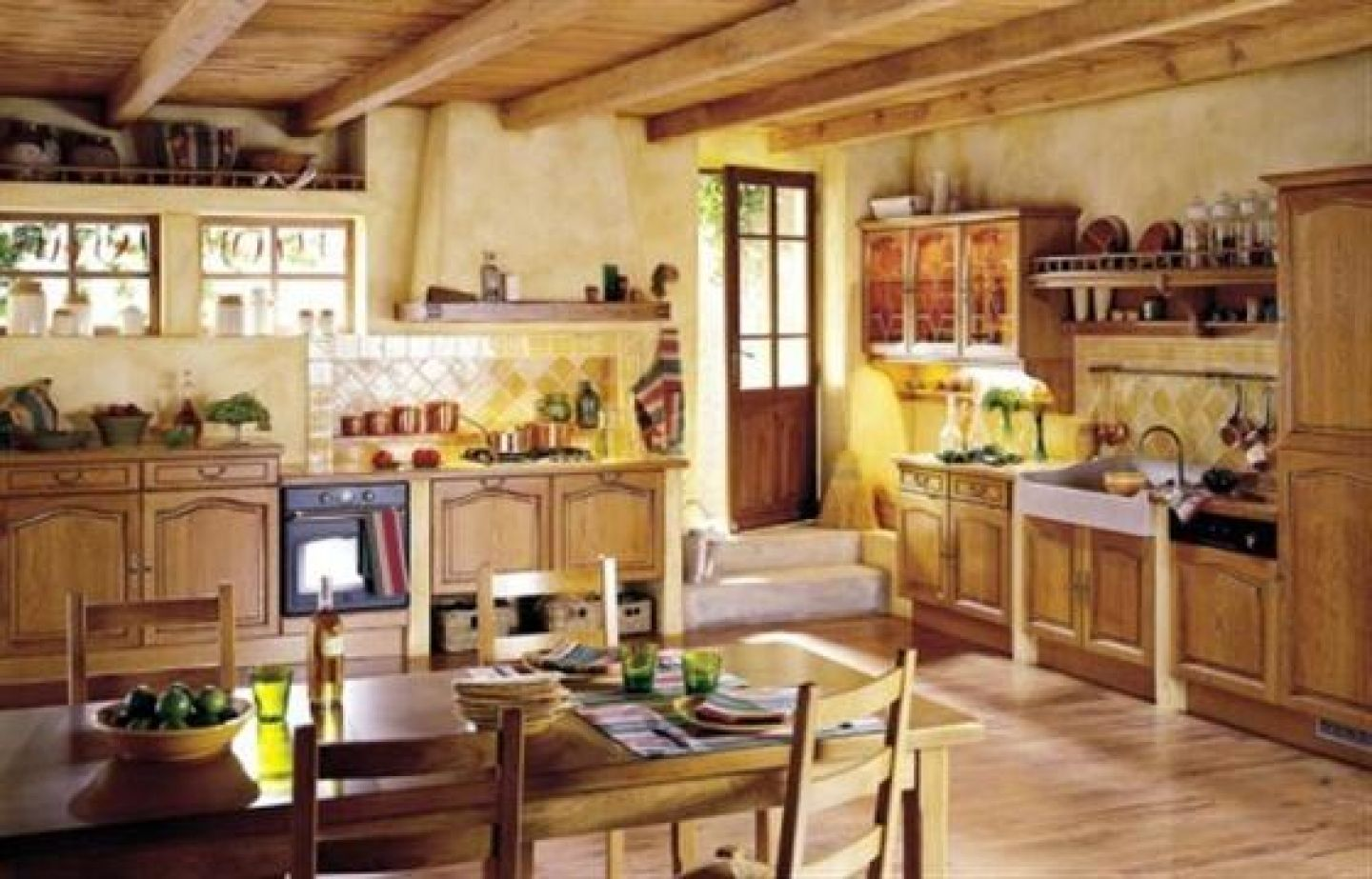 Attractive French Country Kitchen Decor | French Country Style Kitchen Design