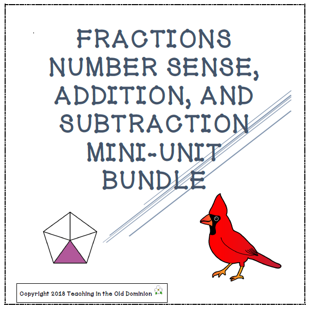 Fractions Number Sense Addition And Subtraction Mini Units Bundle