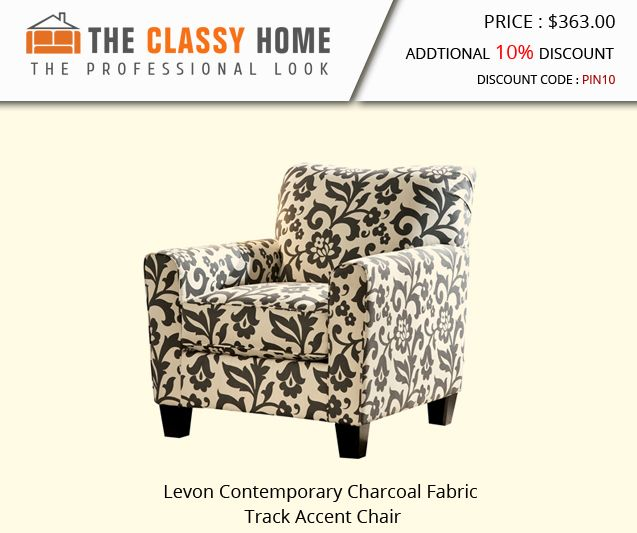 Ashley Furniture Levon Charcoal Accent Chair Printed Accent