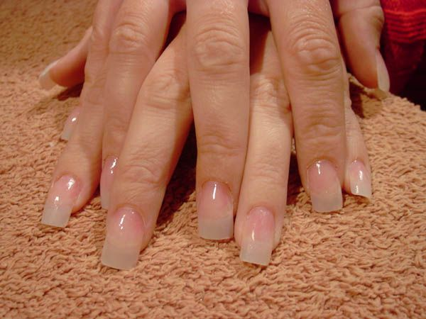 I love the natural nail look! I do my own acrylics at home with ASP ...